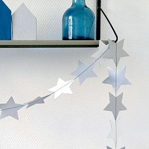 Guirlande de Noël étoile Reversible eco design