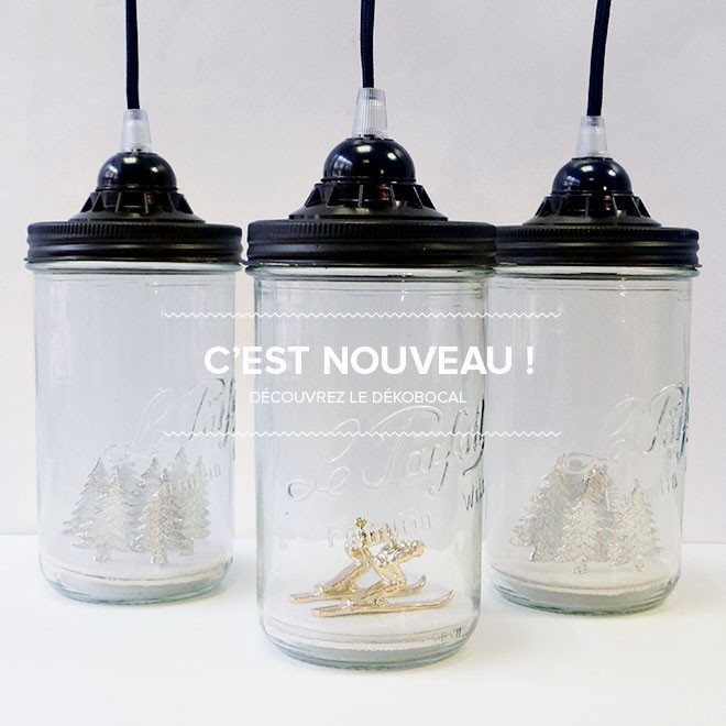 Lampe bocal recyclé Reversible made in France
