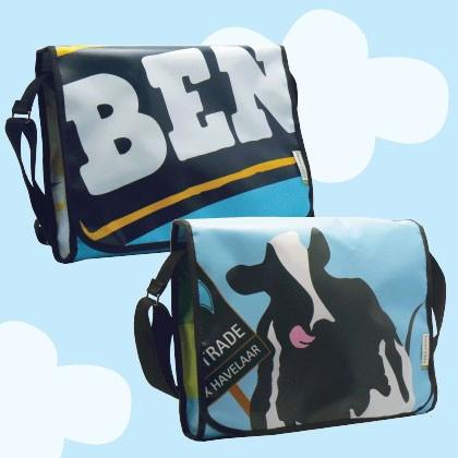Sac en bâche publicitaire recyclée Ben & Jerry's Reversible éco design