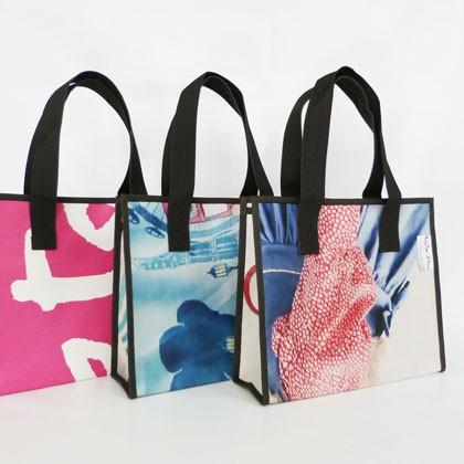 Sac en bâche publicitaire recyclée Bourgoin Jallieu Reversible éco design