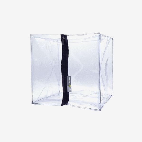 Pouf transparent vide et à remplir sois même