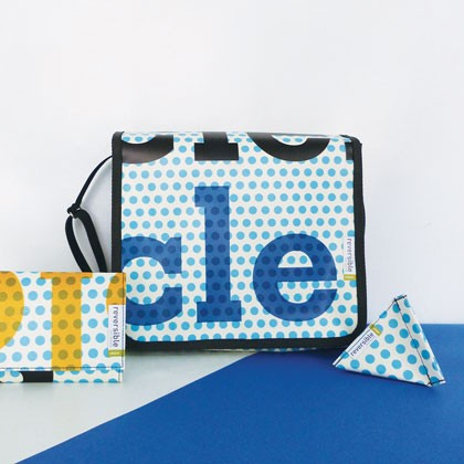 Sac en bâche publicitaire recyclée Musée Niépce Reversible éco design