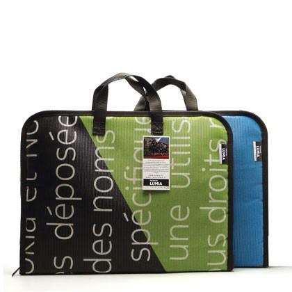 Sac en bâche publicitaire recyclée Nokia Reversible éco design