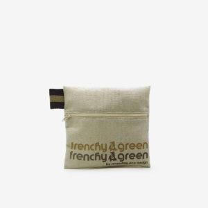Trousse en toile recyclée beige