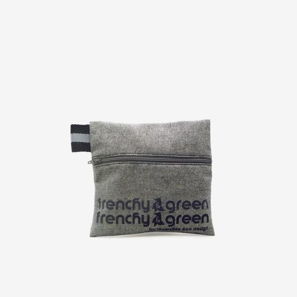 trousse en toile recyclée grise