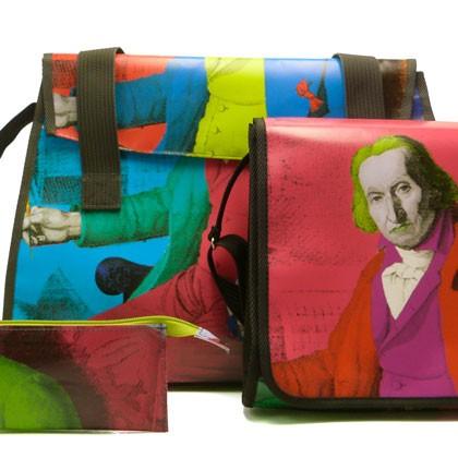 Sac en bâche publicitaire recyclée Musée des tissus - Reversible Eco Design
