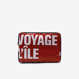 Housse en bâche recyclée rouge Reversible fabriqué en France