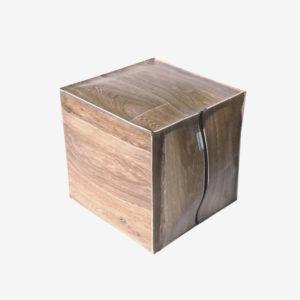 Pouf Dekoseat bois clair