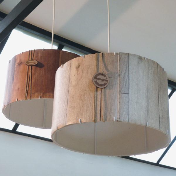Suspensions Dékolampe motif bois