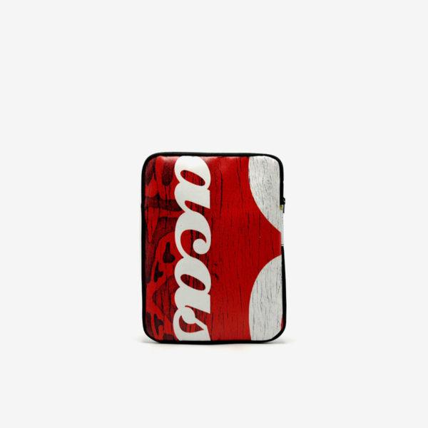 Housse ipad en bâche publicitaire recyclée rouge