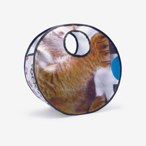 Sac en bâche publicitaire recyclée lion Reversible upcycling dos