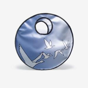 Sac en bâche publicitaire recyclée bleu oiseaux