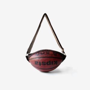 Sac ballon de basket recyclé Reversible upcycling