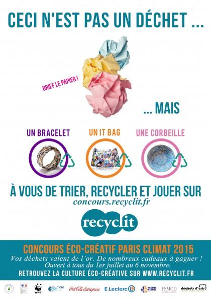 Affiche Recyclit concours