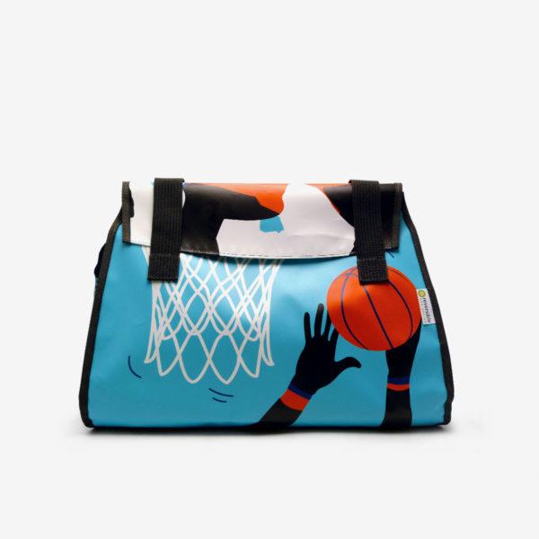 Sac en bâche publicitaire recyclée basket