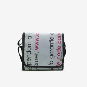 Besace en bâche publicitaire recyclée Reversible eco-design