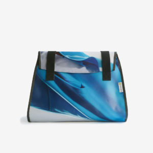 sac week end bleu en bache publicitaire recyclee reversible made in france