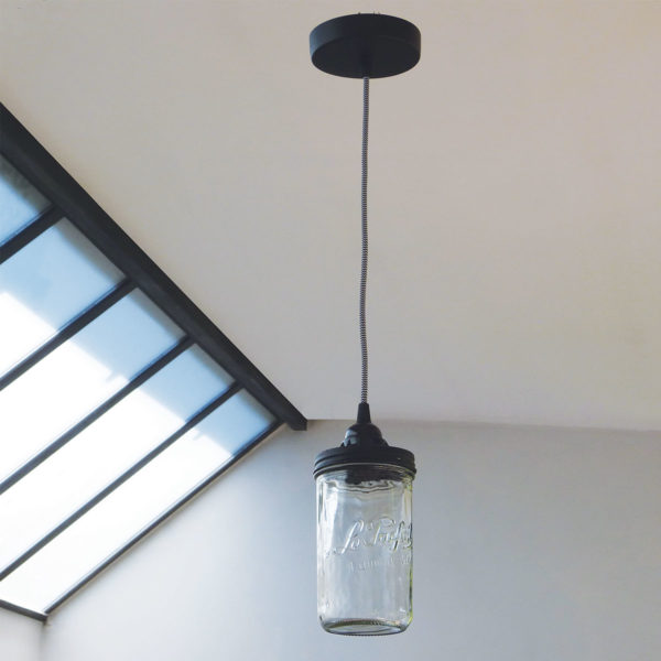 lampe bocal suspension reversible eco design upcycling