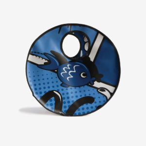 cabas en bache publicitaire bleue reversible eco design