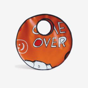cabas en bache publicitaire orange reversible eco design