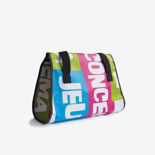 sac week end en bache publicitaire recyclee coloré reversible
