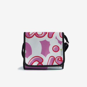sac en bache recyclee rose reversible eco design