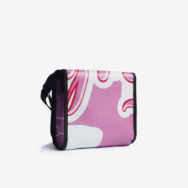 sac en bache recyclee rose reversible eco design