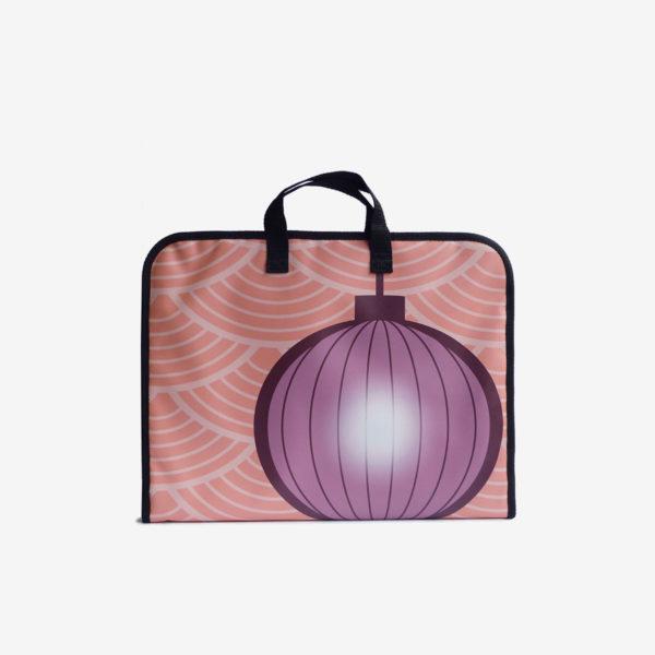 sac en bache recyclee orange reversible made in france
