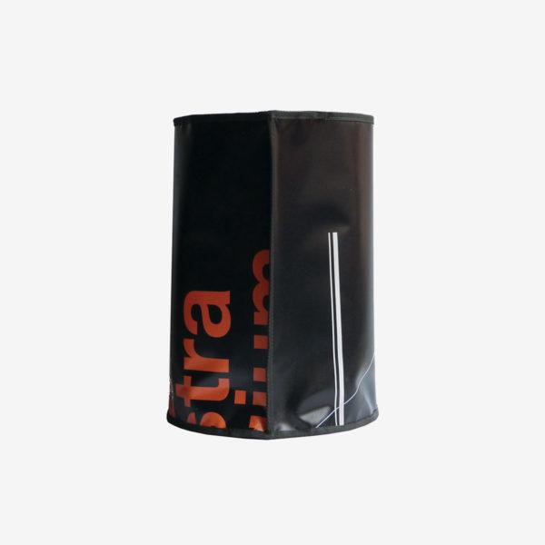 corbeille bache publicitaire-recyclee reversible eco design