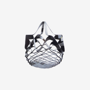 sac filet gris en bache publicitaire-recyclee reversible eco design