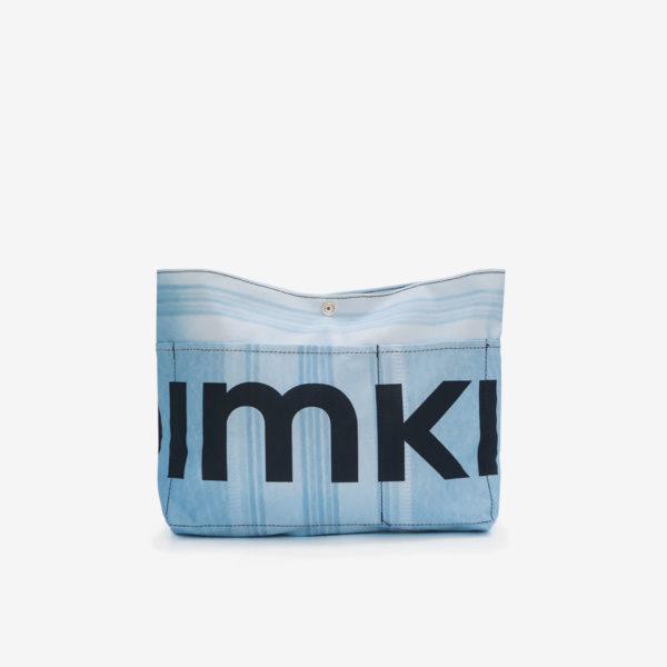 trousse bleue en textile publicitaire reversible eco-design