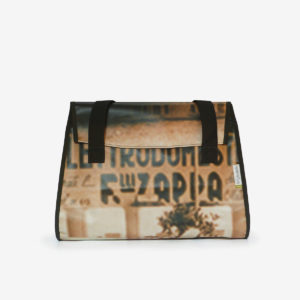 sac kelly beige en bache publicitaire-recyclee-reversible made in france