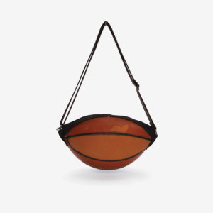 sac ballon de basket orange recycle reversible upcycling
