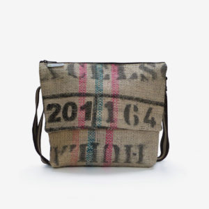 sac en toile de jute de cafe reversible eco design