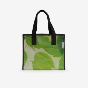 cabas bache publicitaire recyclee verte reversible eco design
