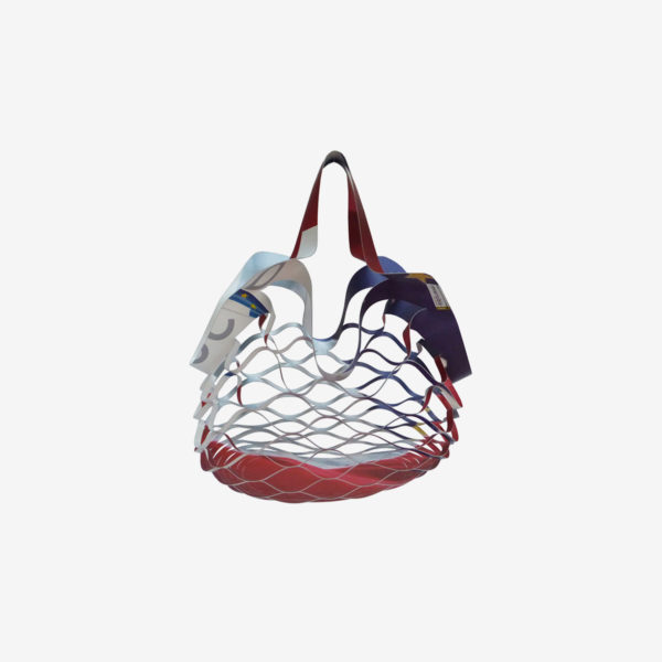 Sac en b che publicitaire recycl e reversible upcycling made in france - Filet a provision francais ...