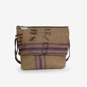 besace toile de jute cafe reversible made in France