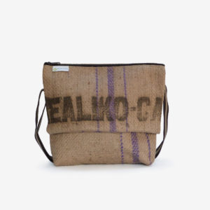 besace toile de jute cafe reversible eco design