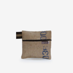 trousse toile jute cafe reversible upcycling