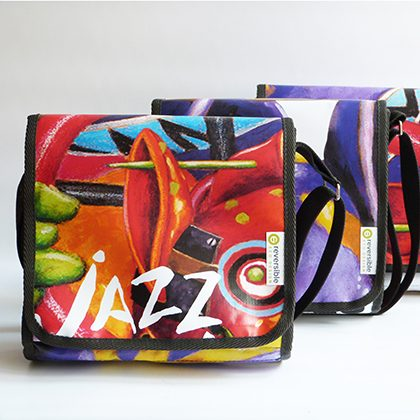 upcycling reversible eco-design pour le festival Jazz à vienne