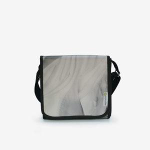 sac en bache publicitaire blanche reversible upcycling
