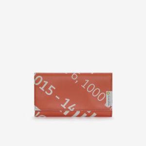 portefeuille en bâche publicitaire orange reversible