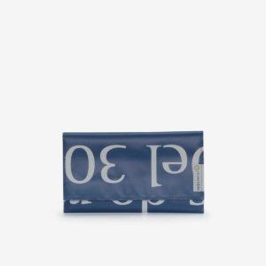 portefeuille en bâche publicitaire bleue reversible