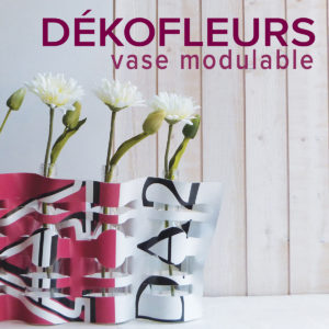 Vase modulable en bâche publicitaire.
