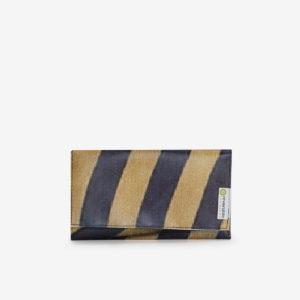 portefeuille jaune noir bache publicitaire reversible upcycling