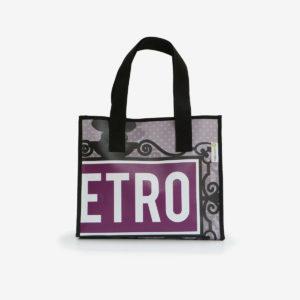 cabas violine sac en bache reversible eco design