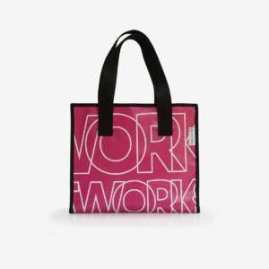 cabas rose sac en bache reversible eco design