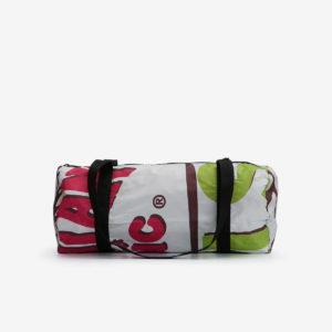 sac bowling en affichage publicitaire recycle reversible eco design
