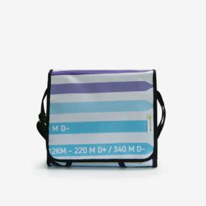 sac rayé bleu et blanc en bache rayée bleu et blanc publicitaire reversible