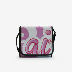 upcycling sac en bache publicitaire recyclee rose girly reversible